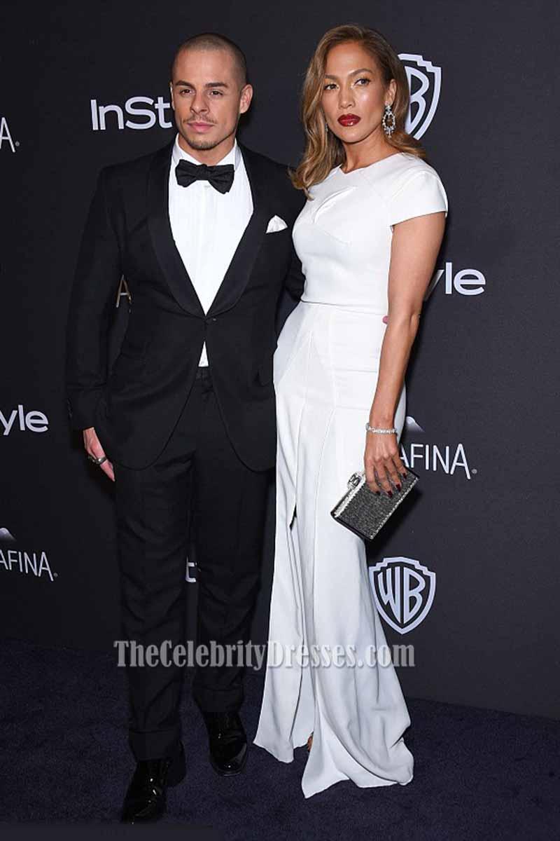 Jennifer Lopez 2016 Golden Globes Awards After Party White Evening ...