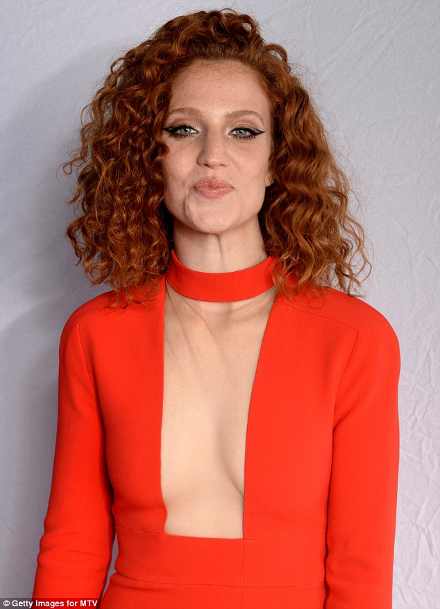 Jess Glynne's Red Long Sleeve Evening Dress 2015 MTV EMAs ...