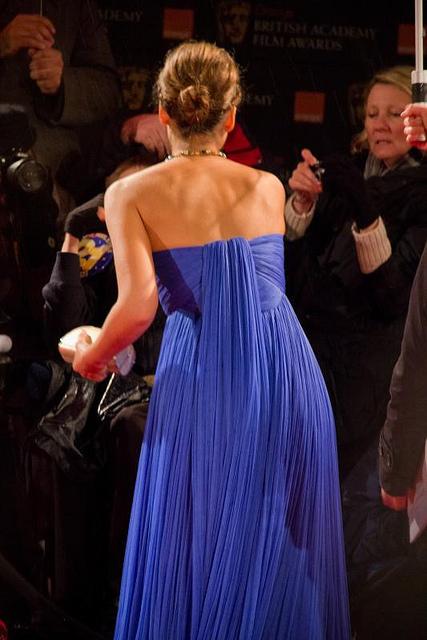 Jessica Alba Blue Formal Gown Prom Evening Dress 2011