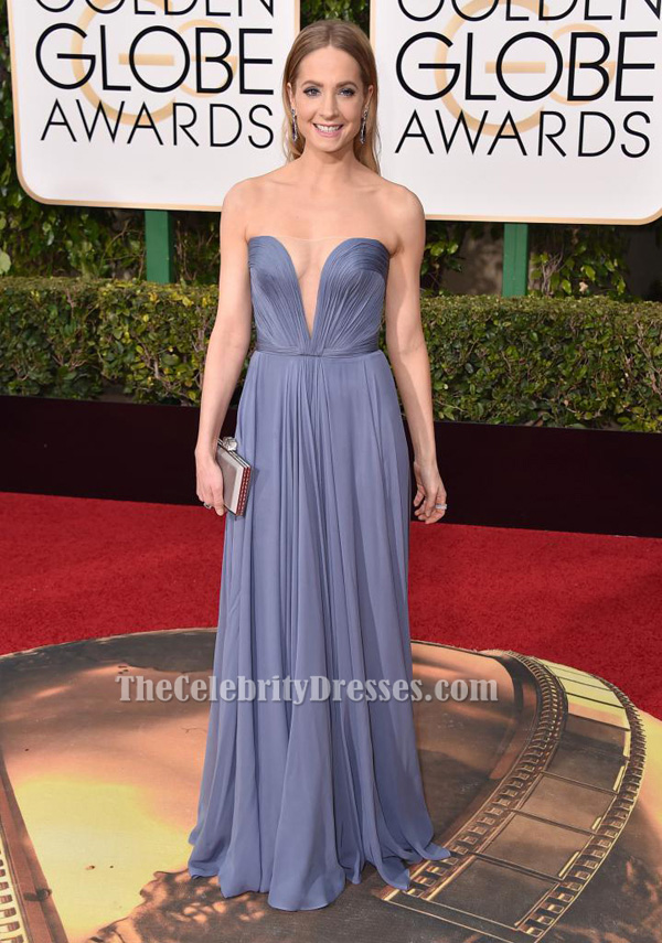 Joanne Froggatt Blue Evening Dress Golden globe awards ...