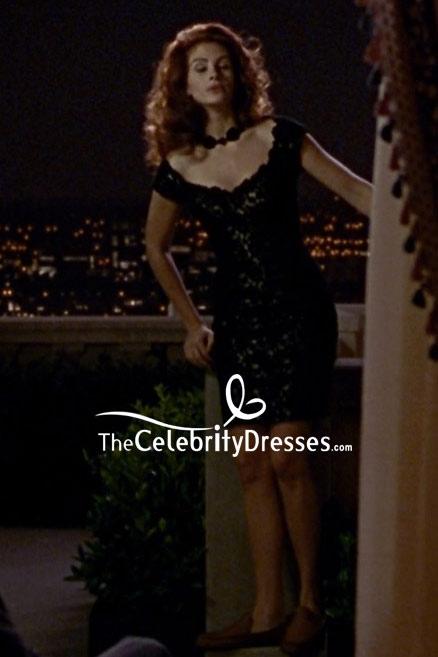 Julia Roberts Black Lace Cocktail Dress In Movie Pretty Women