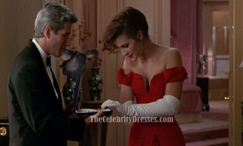 Julia Roberts Red Evening Prom Dress in &39Pretty Woman ...
