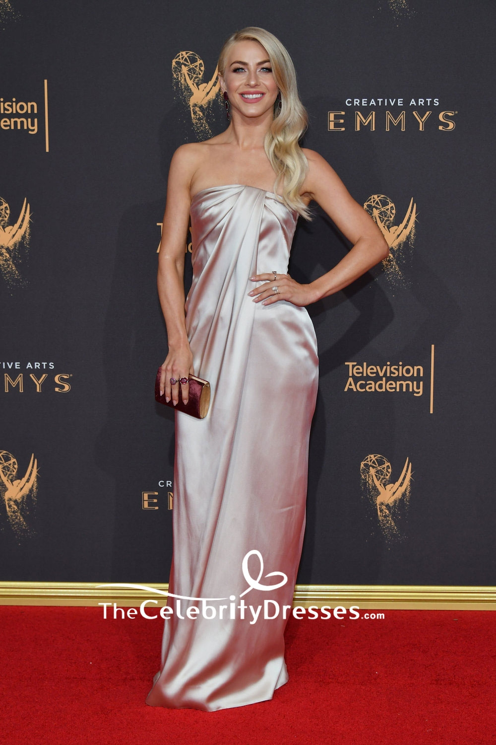 Julianne Hough Strapless Evening Dress 2017 Creative Arts Emmy Awards - TheCelebrityDresses