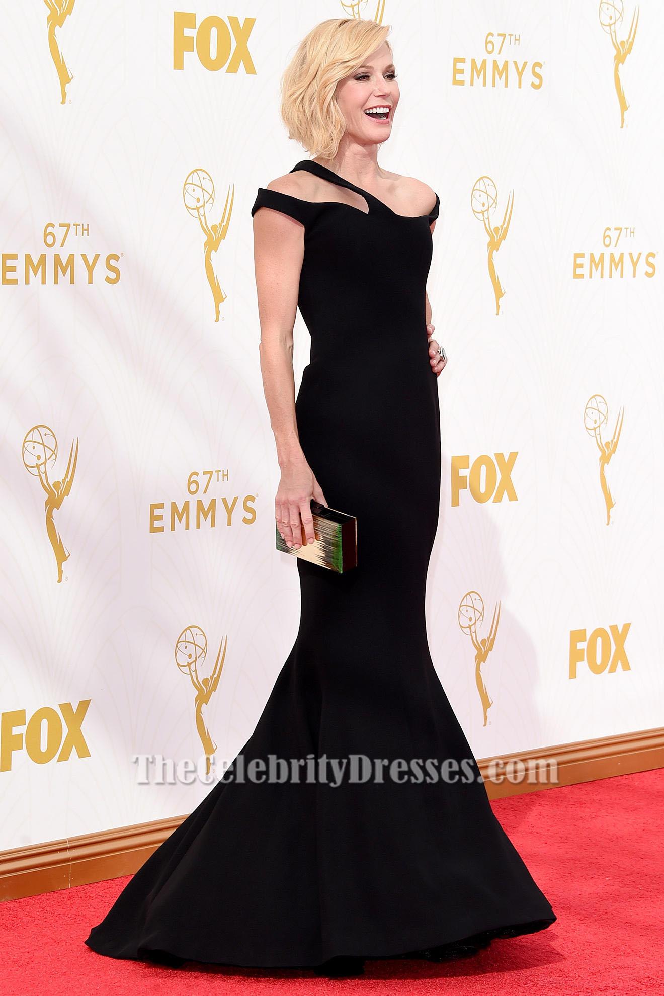 Julie Bowen Black Evening Dress 2015 Emmy Awards Red Carpet - TheCelebrityDresses