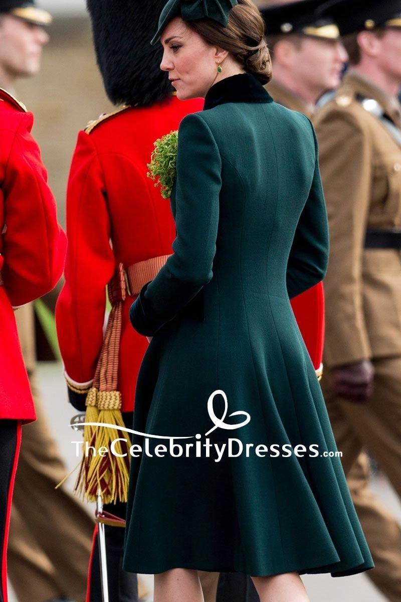 Kate Middleton dunkelgrüner Mantel-jährlicher Iren-Schutz-St Patrick ...