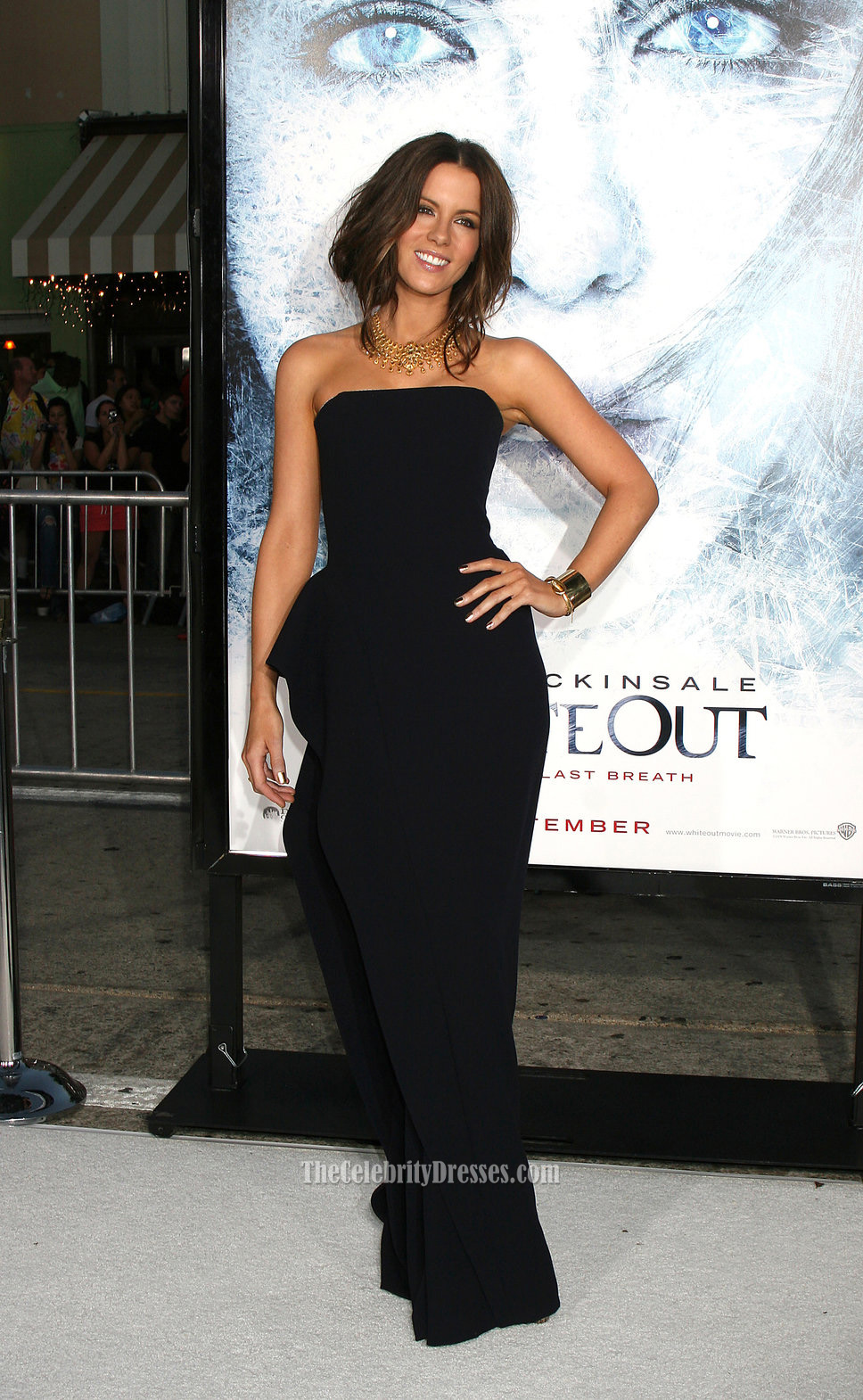 Kate Beckinsale Strapless Black Prom Gown Formal Dress Whiteout ...