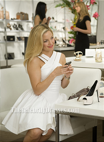 Kate Hudson White Criss Cross Party Dress Something Borrowed - TheCelebrityDresses