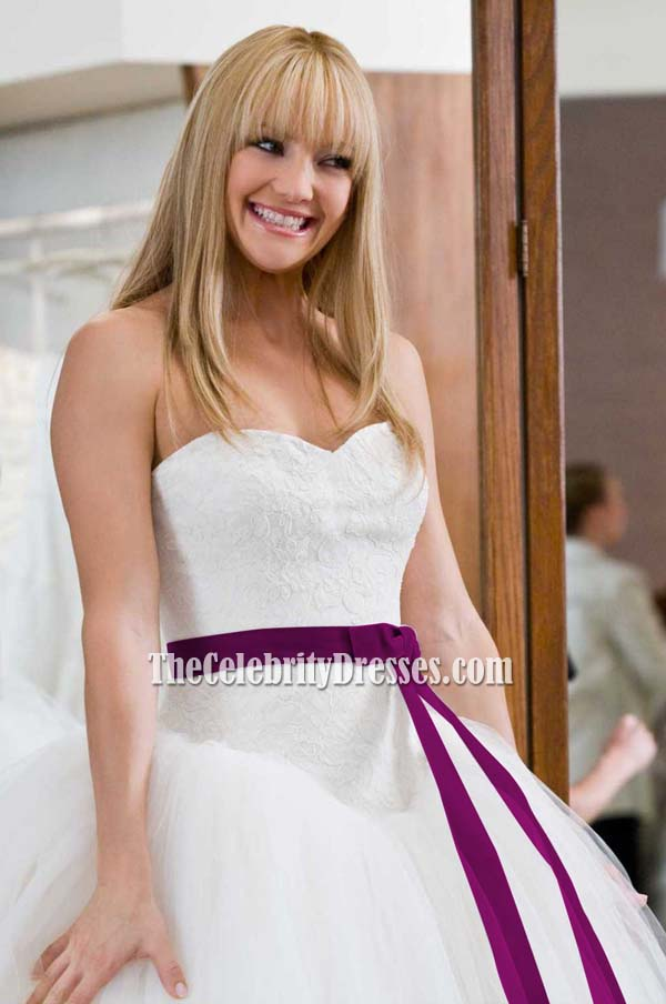 Kate Hudson Wedding Dress Bridal Gown In Movie Bride Wars Tcd0209 Thecelebritydresses