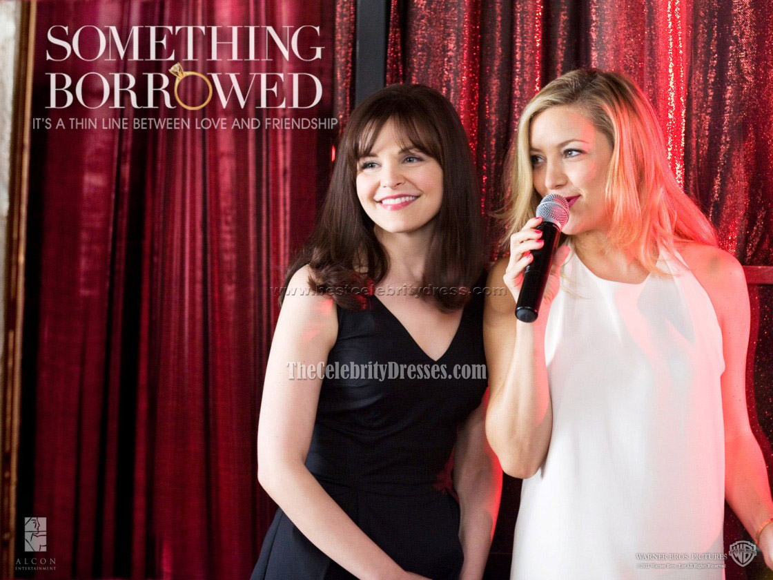 Kate Hudson Mini White Halter Dress In Something Borrowed Celebrity Movie Celebrity Dresses Thecelebritydresses