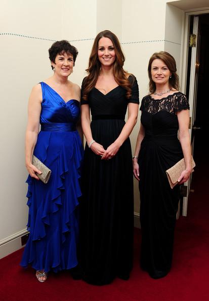 Kate Middleton Dark Navy Prom Dress 100 Women in Hedge Funds Gala ...