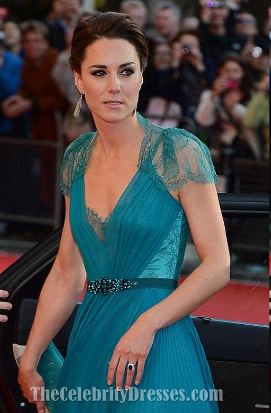 Kate Middleton Abendkleid London Olympia Gala Festliches Kleid ...