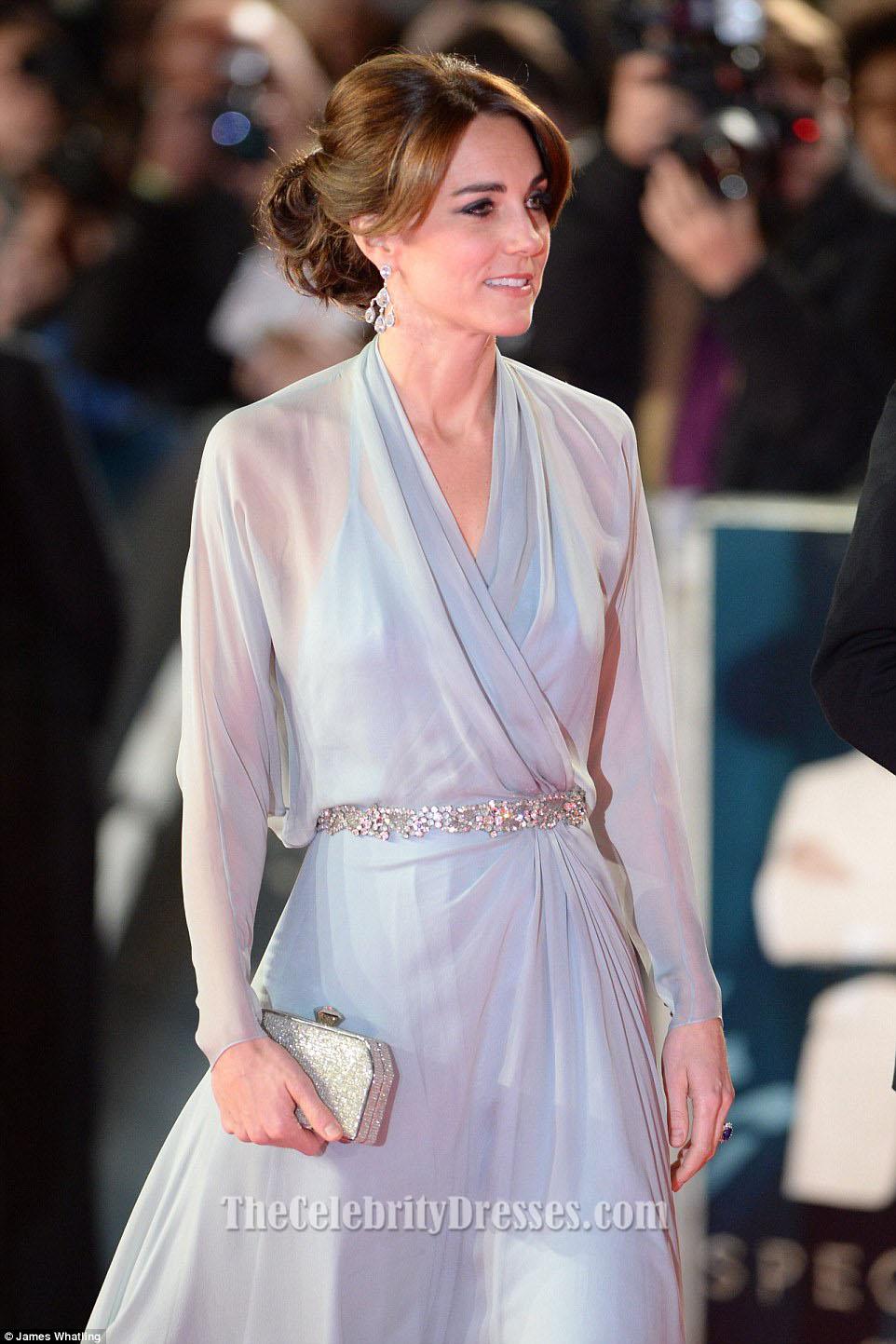 Kate Middleton Himmelblau Abendkleid SPECTRE London Premiere ...
