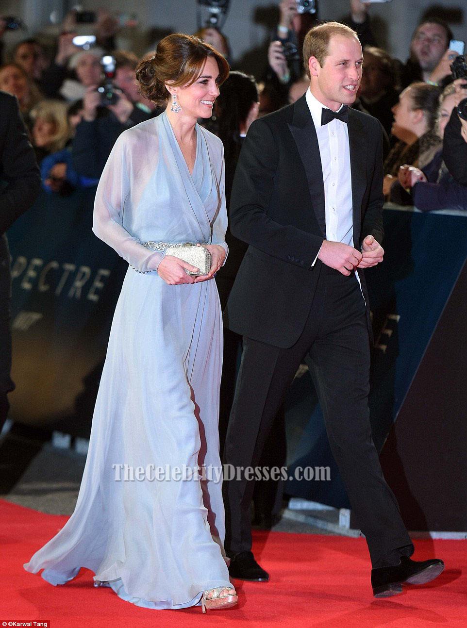 Kate Middleton Sky Blue Evening Dress Spectre London