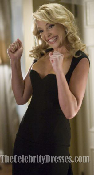 Katherine Heigl Schwarzes Cocktailkleid In \'\'The Ugly Truth\' Promi ...