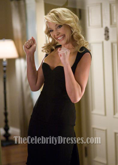 Katherine Heigl Schwarzes Cocktailkleid In \'\'The Ugly Truth\' Promi ...