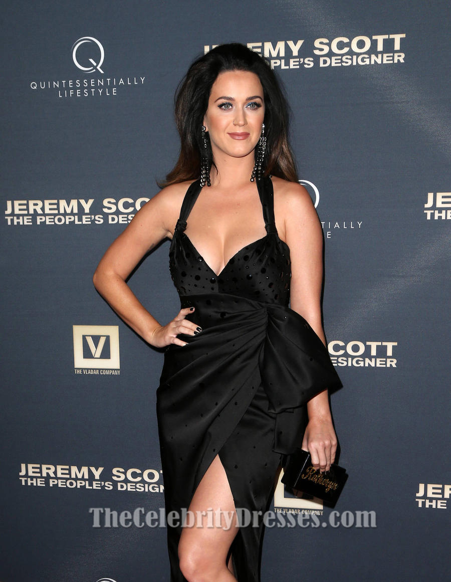 Katy Perry Sexy Black Evening Formal Dresses premiere of Jeremy Scott film  - TheCelebrityDresses