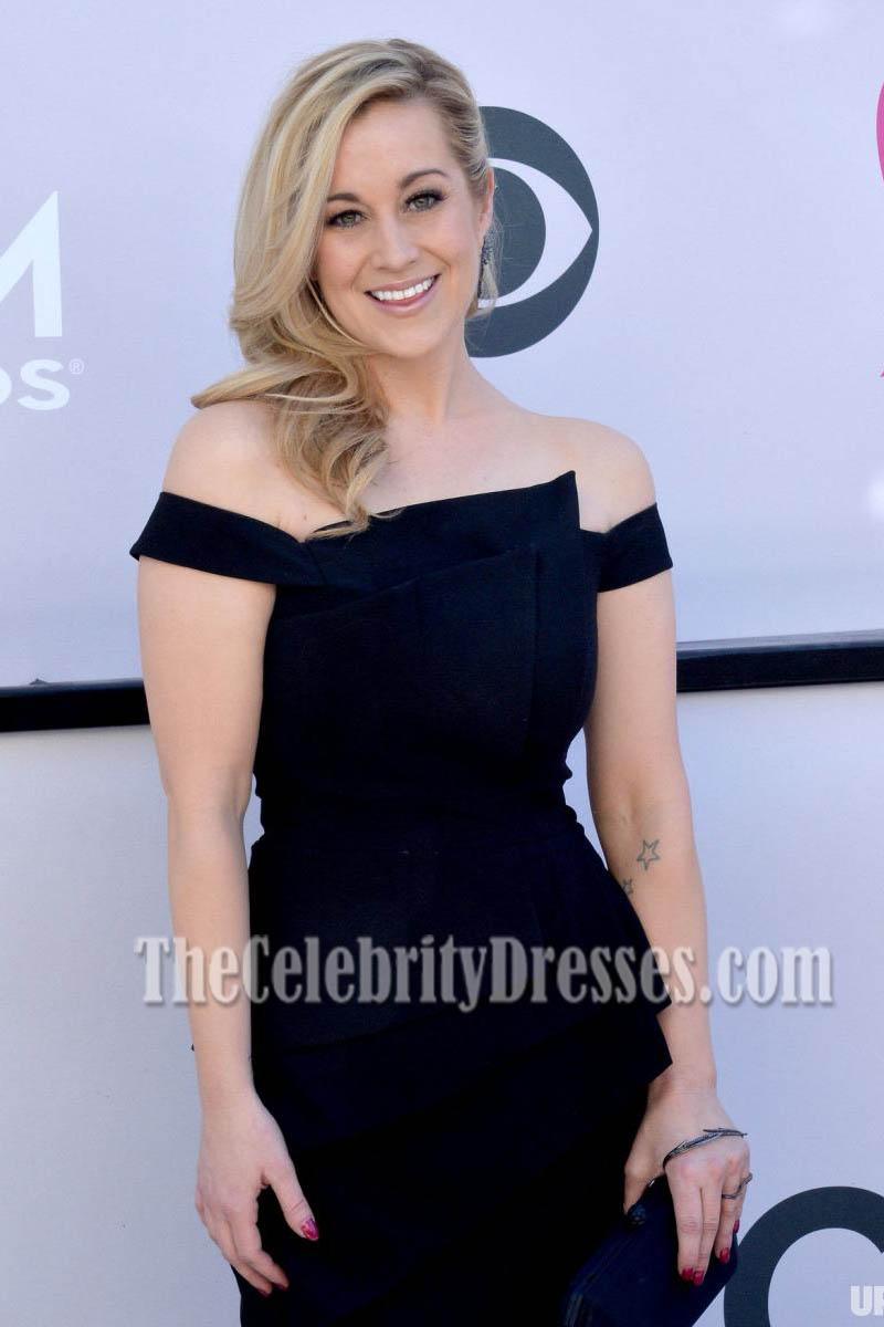 Kellie Pickler Black Off-the-Shoulder Evening Dress 2017 ...
