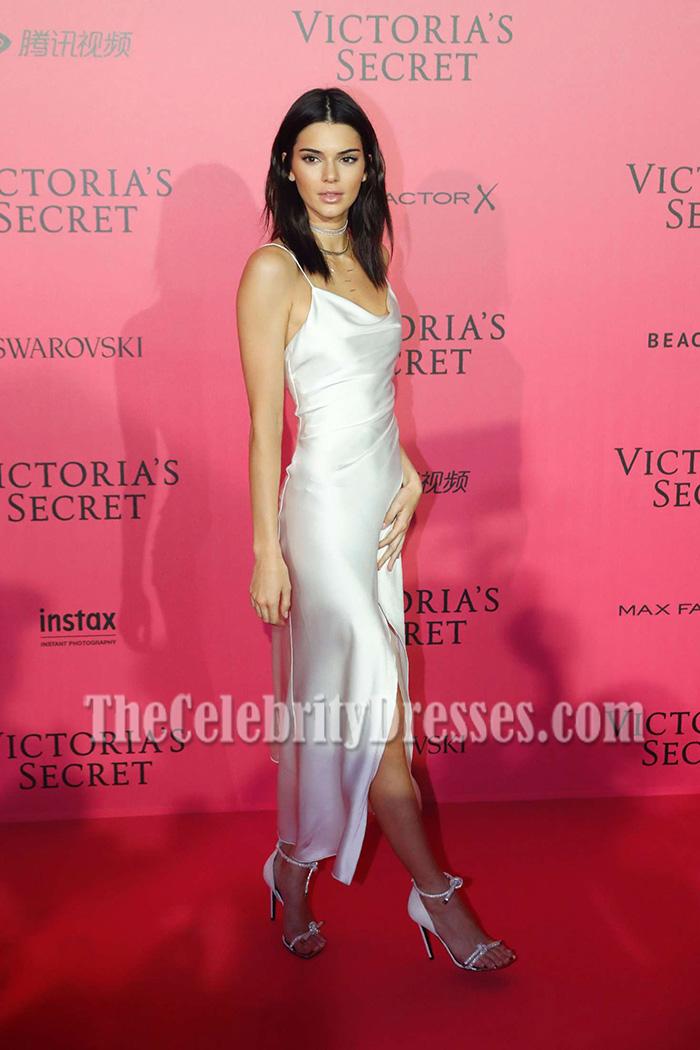Kendall Jenner White Spaghetti Straps Party Dress Victoria\'s Secret ...