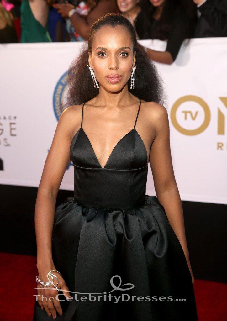 Kerry Washington Black Evening Gown 2018 Naacp Image