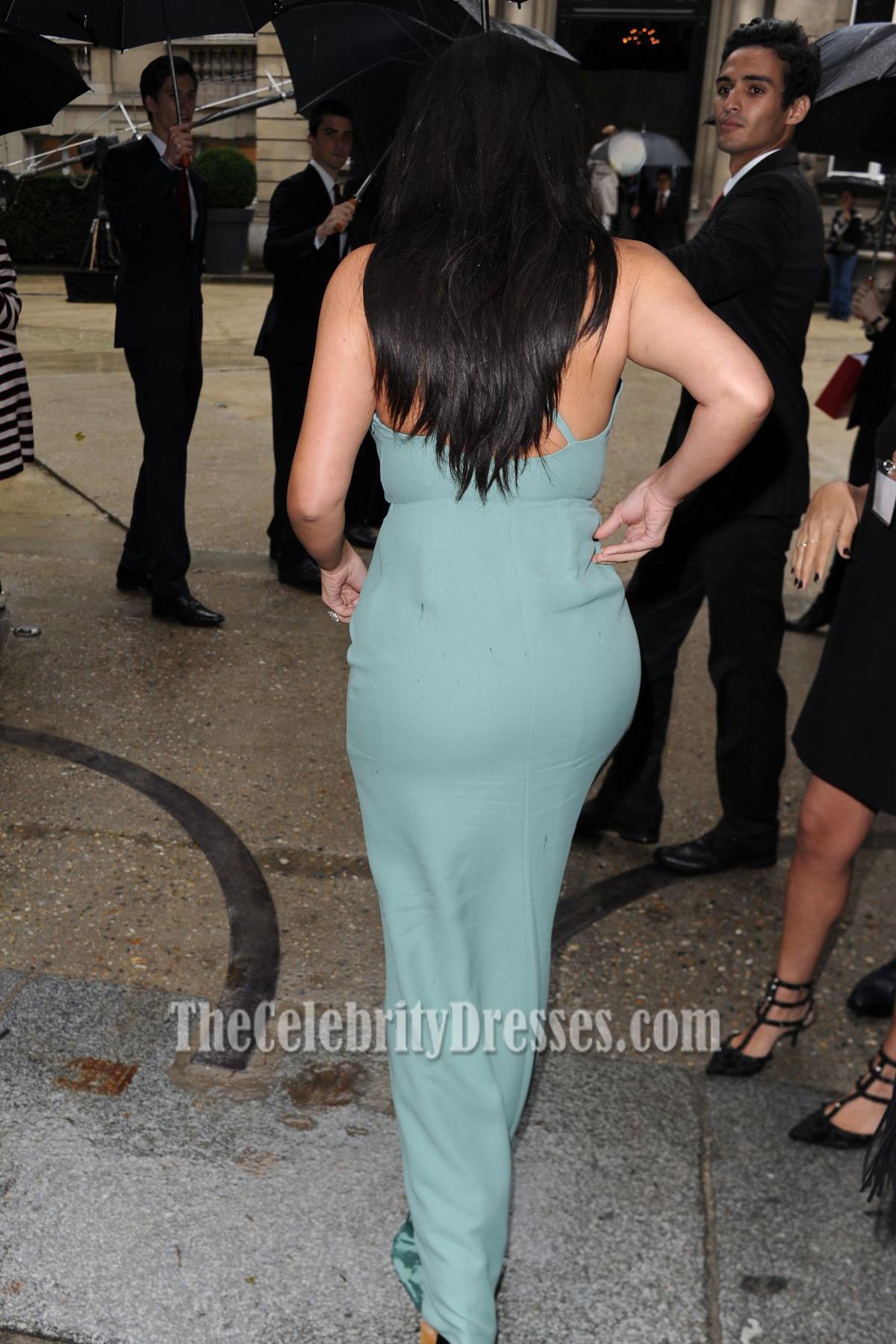 3de977f794 Kim Kardashian Sexy Deep V-Neck Floor Length Evening Dresses -  TheCelebrityDresses