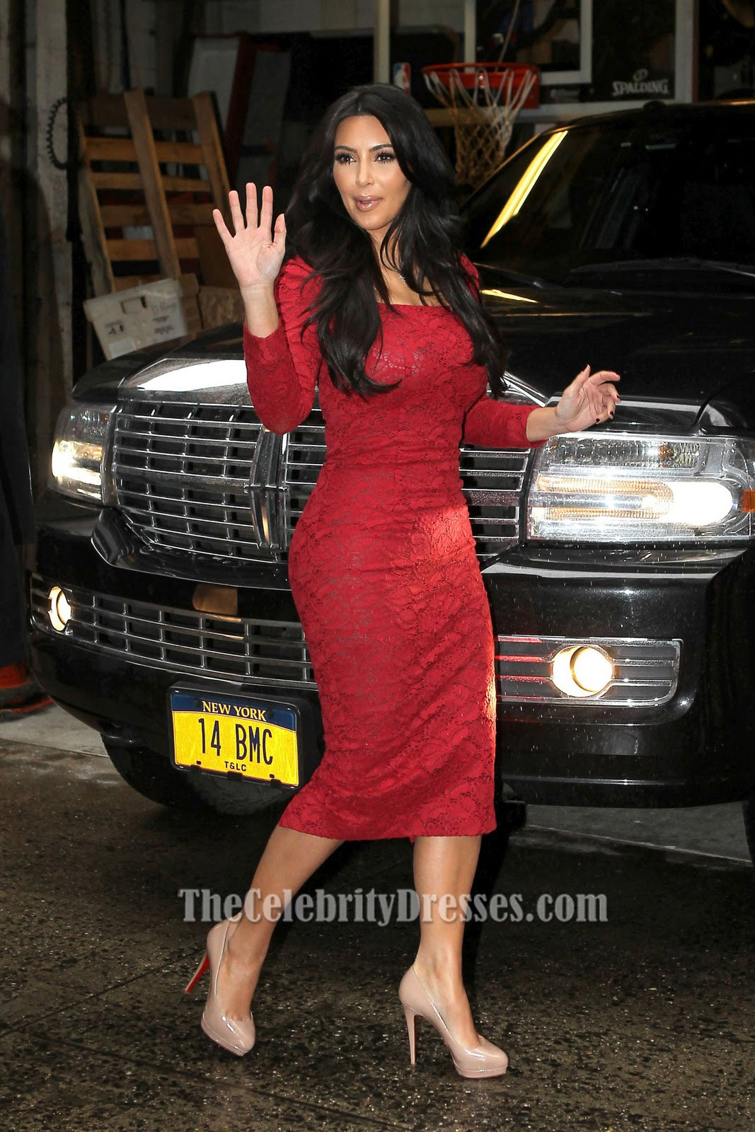 Kim Kardashian Red Lace Cocktail Dress Party Celebrity Dresses ...