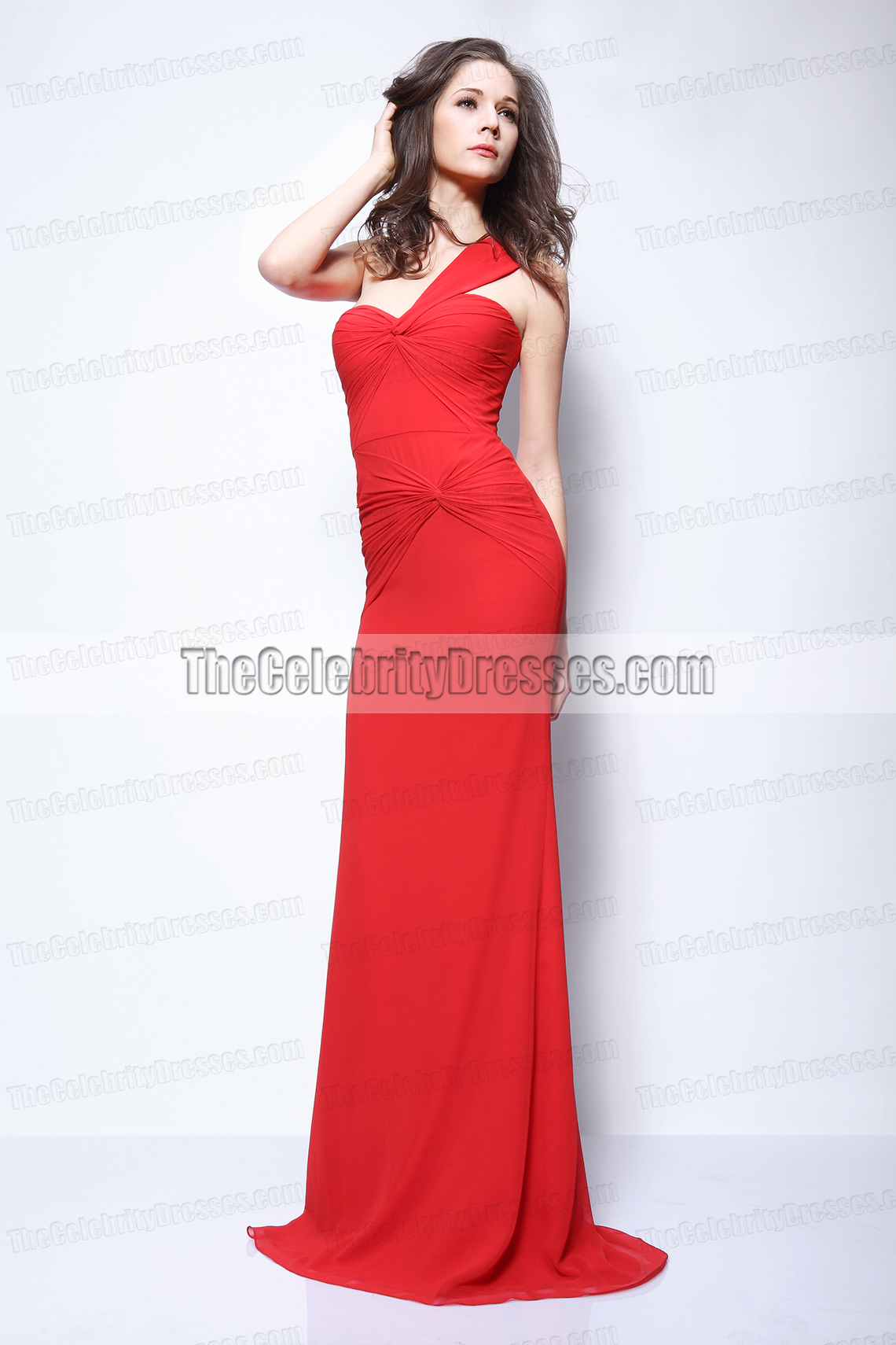 Kim Kardashian Rote One Schulter Prom Kleid Abendkleid Roter Teppich ...
