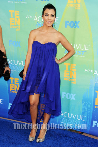 Kourtney Kardashian Royal Blue Prom Dress 2011 Teen Choice
