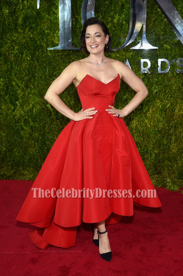 Laura Michelle Kelly Red Formal Dress 2015 Tony Awards Red