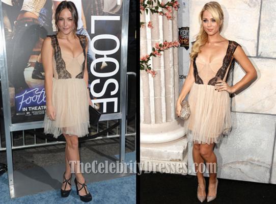 Laura Vandervoort und Selena Gomez Kurzes Partykleid Heimkehr ...