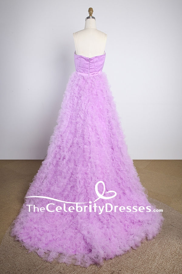 Lavender Strapless Ball Gown Wedding Dress For Sale ...
