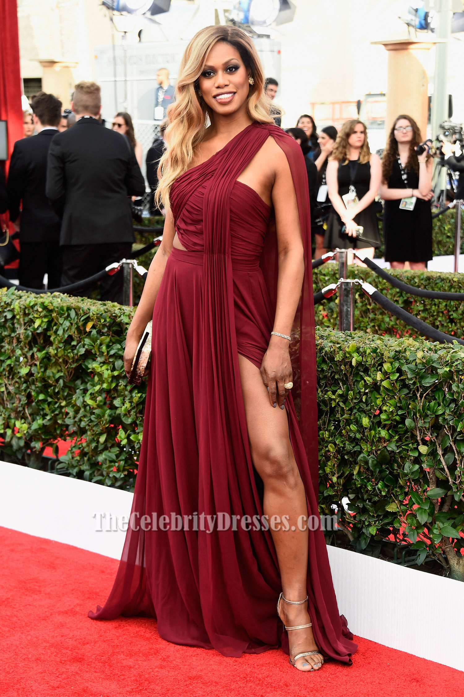 Product Questions – Laverne Cox 2016 SAG Awards Burgundy ...