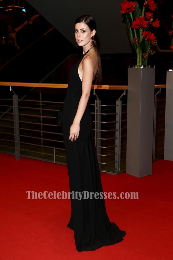 Lena Meyer Landrut Black Halter Evening Dress Berlinale Film Festival Red Carpet Dresses