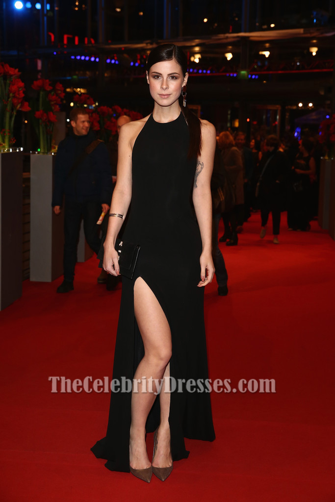 Lena Meyer Landrut Black Halter Evening Dress Berlinale