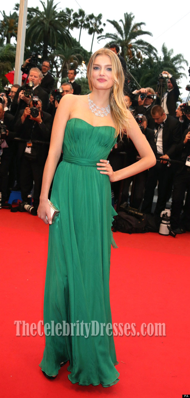 Lily Donaldson Hunter Evening Prom Dress 2012 Cannes Film Festival ...