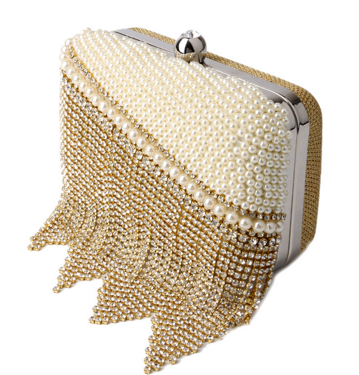 ac69beb4 Luxury Pearl Tassel Bag Exquisite Diamond Evening Bag Clutch Bag Ladies  Mini Bags - TheCelebrityDresses