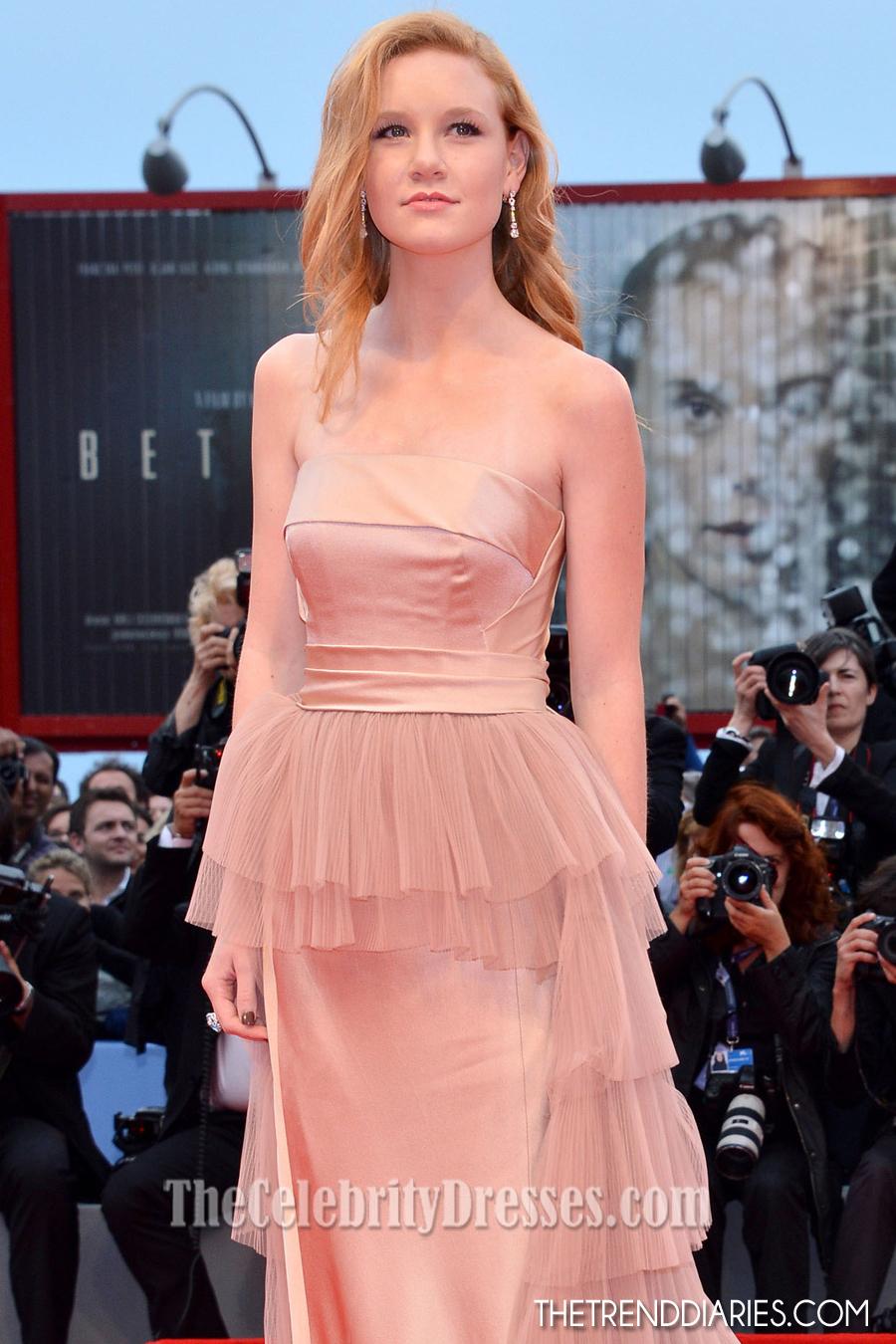 Madisen Beaty Strapless Formal Dress 2012 Venice Film Festival Red Carpet Gown - TheCelebrityDresses