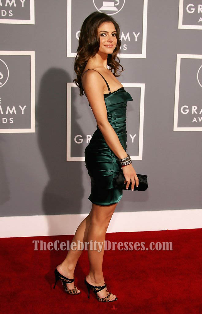Maria Menounos Mini Dark Green Short Party Cocktail