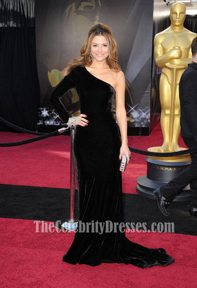 Maria Menounos Oscars Black Dress Red Carpet One Sleeve ...