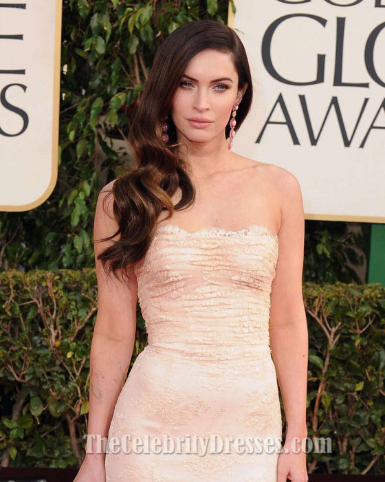 megan fox golden globe awards 2013 prom formal red carpet