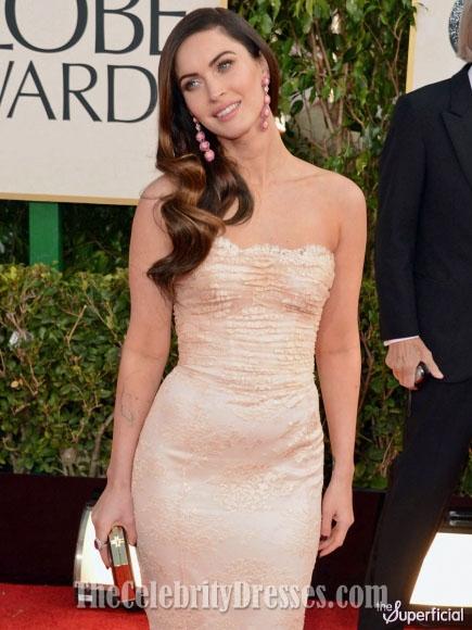Megan Fox 2010 Red Dress Megan Fox Golden Globe...