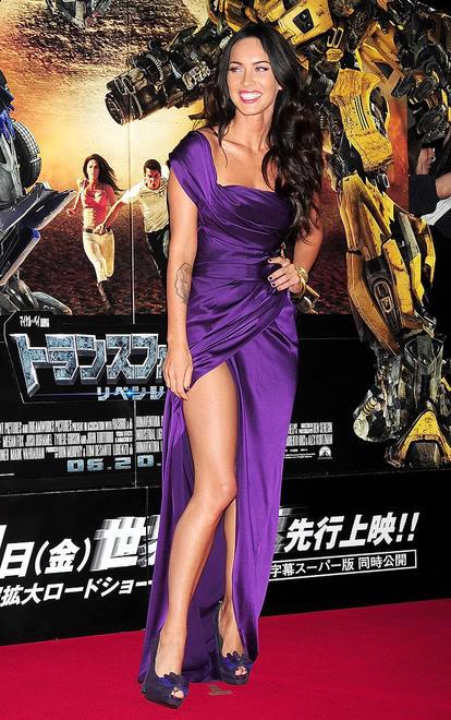 Celebrity Dresses Megan Fox Sexy Purple Evening Dress ...