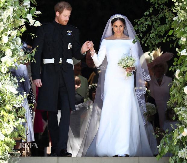 Meghan Markle Weds Prince Harry Elegant Long