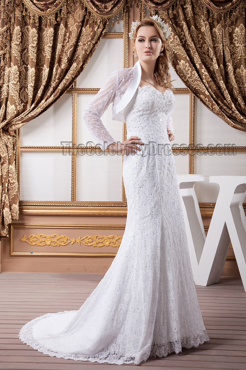 Mermaid /Trumpet Sweetheart Strapless Lace Wedding Dresses ...