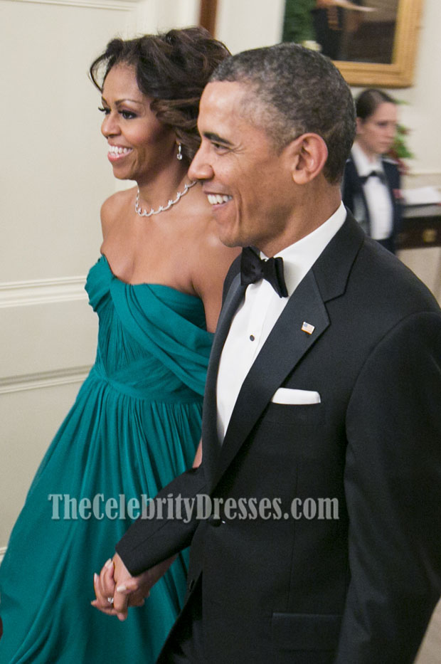09ceaaef21 Michelle Obama Off-the-Shoulder Prom Evening Dress 36th Kennedy Center  Honors Gala - TheCelebrityDresses
