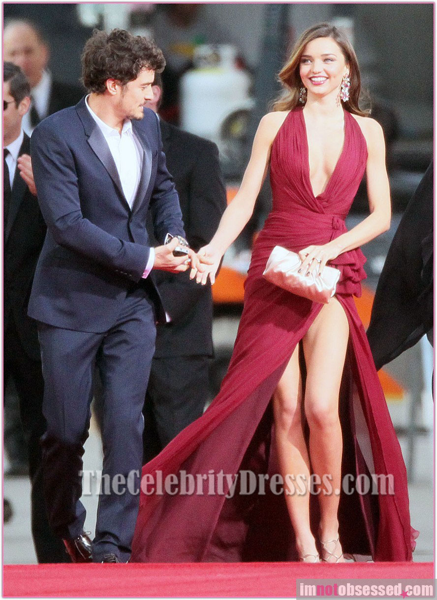 fd08b2b443 Miranda Kerr Burgundy Prom Dress Golden Globes 2013 Red Carpet -  TheCelebrityDresses