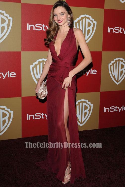Miranda Kerr Burgund Ballkleid Golden Globes 2013 Roter Teppich ...