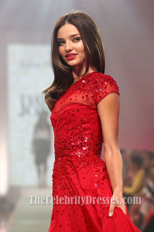 8dad8bacbdda2 Miranda Kerr Red Prom Dress David Jones Spring Summer 2012 Fashion Show -  TheCelebrityDresses