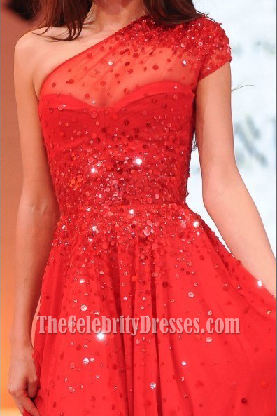 Miranda Kerr Red Prom Dress David Jones Spring Summer 2012 Fashion ...