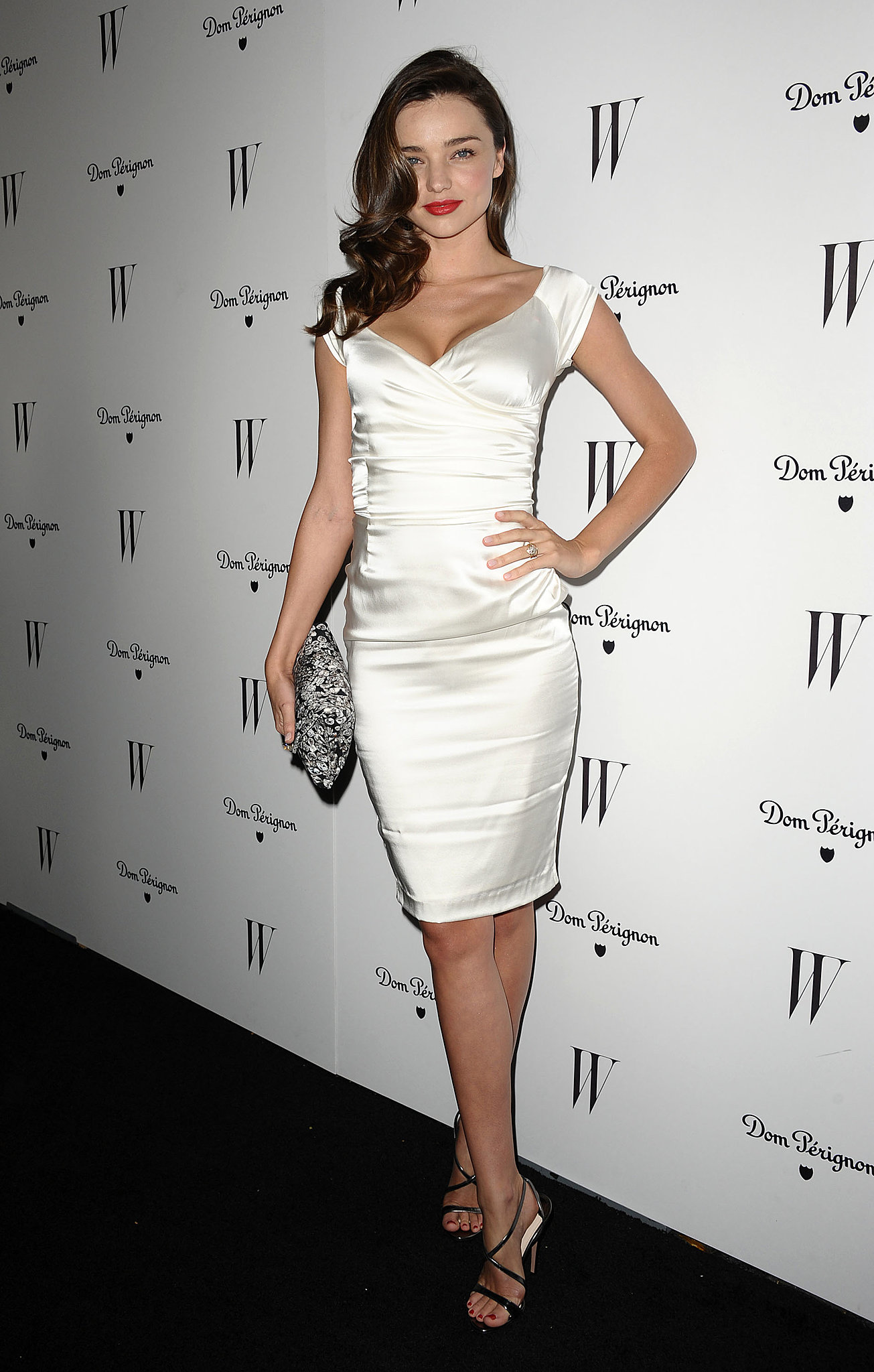 Miranda Kerr Short Party Cocktail Dress Magazine Dom Perignon ...