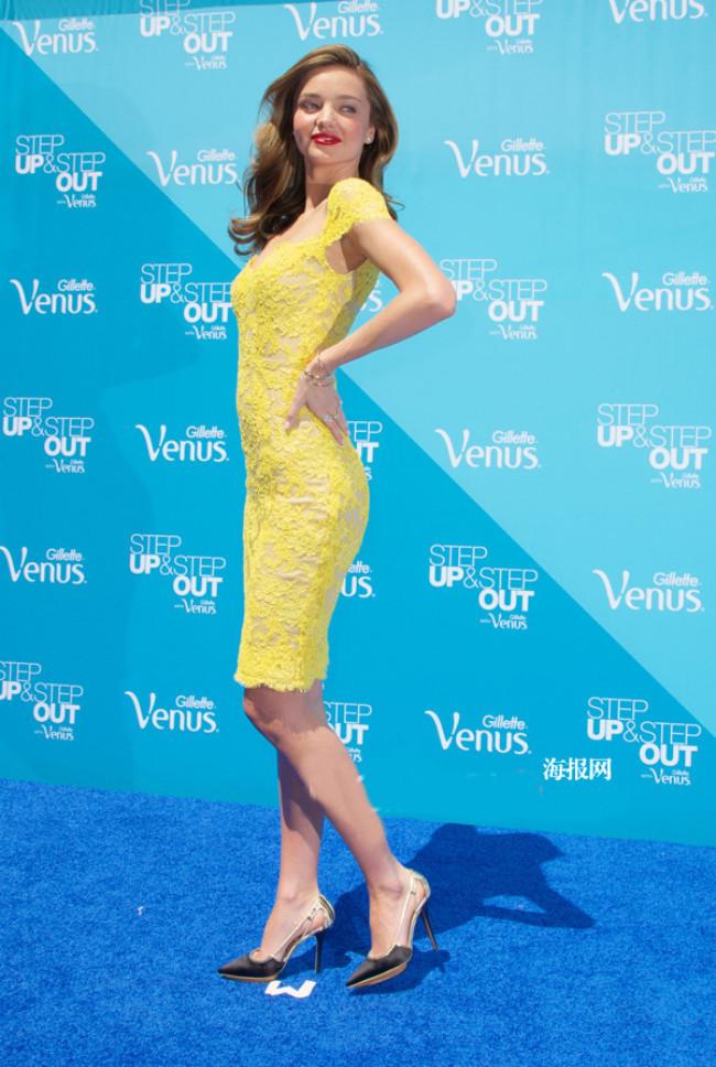 Miranda Kerr Yellow Short Lace Cocktail Party Dresses ...